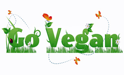 Go Vegan text image