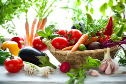 Image of Fresh Vegetables in a Basket