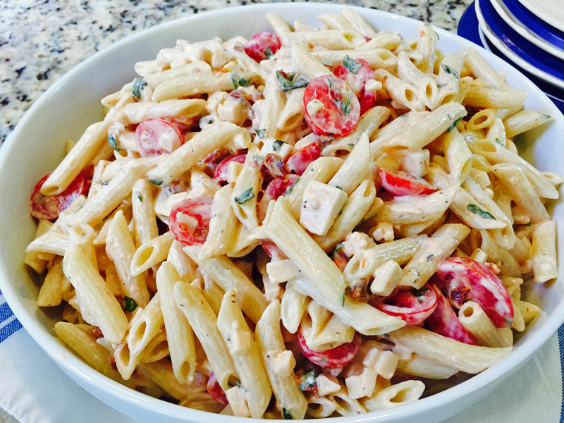 Zesty Pasta Salad With Tomato, Basil, and Smoked Gouda ...