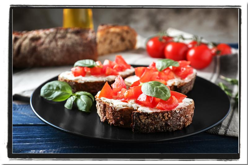 Roasted Garlic and Tomato Basil Bruschetta   Vegan Nook - Vegan and ...