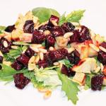 Spring Salad with Roasted Beet and Sweet Potato