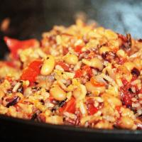 Black-Eyed Peas and Wild Rice