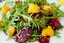 Arugula Orange and Roasted Beet Salad