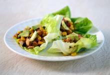 Baked Tofu & Shiitake Mushroom Lettuce Wraps