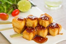 Crispy Tofu with Asian Barbecue Sauce