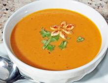 Curry Roasted Zucchini and Carrot Soup