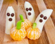 Banana Ghosts and Mandarin Orange Pumpkins