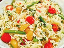Lemon, Veggie Orzo Salad