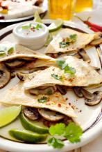 Mushroom Mozzarella Quesadillas