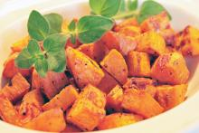 Roasted Sweet Potatoes with Oregano and Thyme
