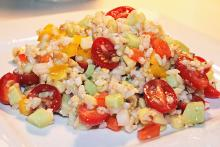 Summertime Brown Rice Salad