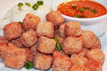 Crispy Fried Tofu with Chili Lime Dipping Sauce